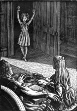 wood-engraving print: Olga's Ghost for The Runaway